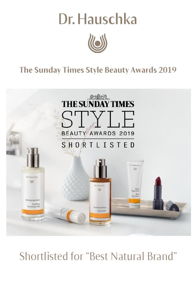 "Shortlisted for ""Best Natural Brand """